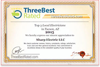 Tucson Electricians' Three Best Rating